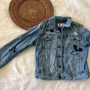 Gap Mickey Mouse embroidered Denim Jacket
